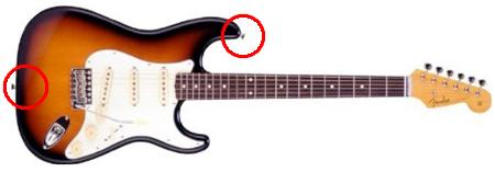 エレキギターのストラップ